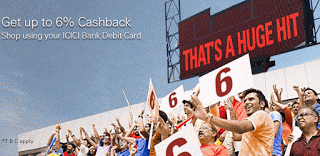 icici bank upto  cashback on transactions offer