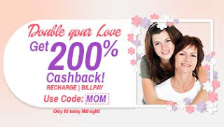 mobikwik  cashback on recharges mothers day special MOM