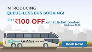 mobikwik bus tickets  cashback offer