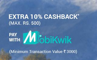 mobikwik via app website  cashback offer