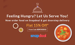 snapdeal  discount on food orders via snapdeal app