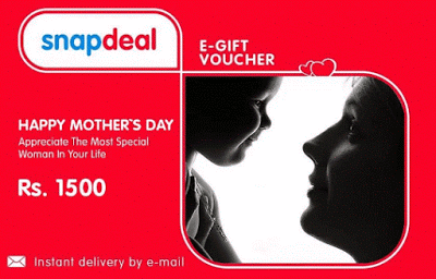 snapdeal mothers day gift card rs off