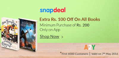 snapdeal rs off on books  cashback via slonkit