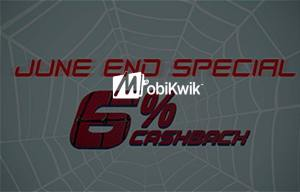 Mobikwik Get  cb on recharge or bill payment end of june
