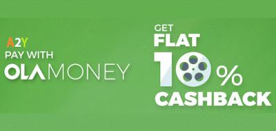 bookmyshow ola money  cashback offer