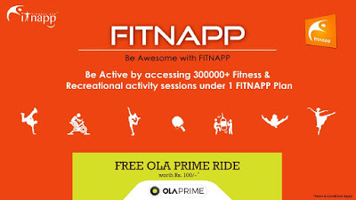 fitnapp free ola prime ride worth rs
