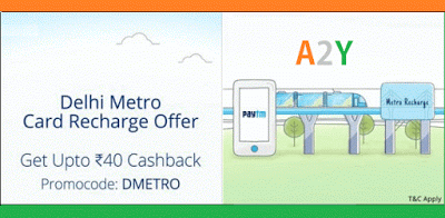 paytm  cashack on delhi metro recharges