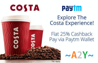 paytm coffee costa  cashback offer