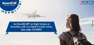 smartbuy hdfc get flat Rs  off on flight bookings loot