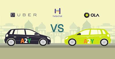 HelpChatapp uber vs ola cab offer  cashback