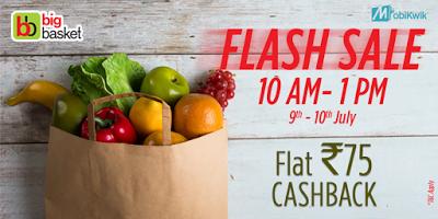 big basket mobikwik flash sale