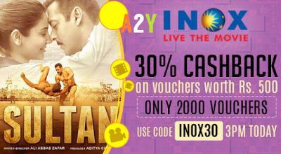 crownit sultan movie  cashback inox gift voucher