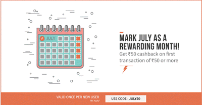 freecharge  cashback loot offer july