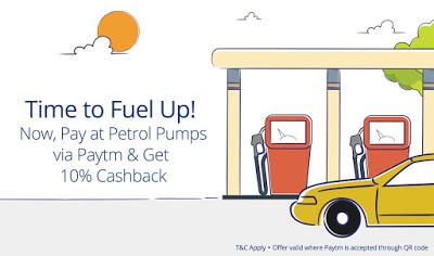 paytm  cashback at petrol pumps