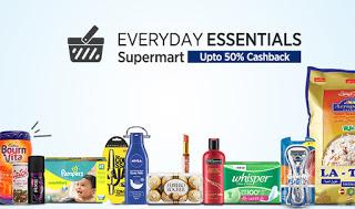 paytm everday essentials supermarket upto  cashback loot