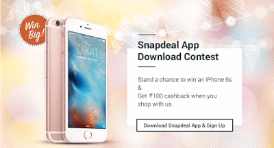 snapdeal app rs cashback loot offer