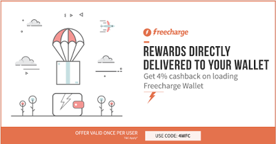 FreeCharge get  cashback on adding money