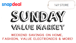 Snapdeal sunday value market latest january