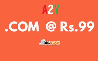 big rock com domain at rs only