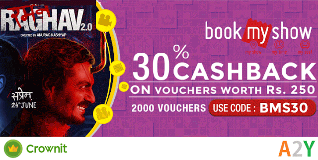 crownit bookmyshow gift voucher loot