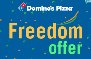 dominos freedom sale offer  off