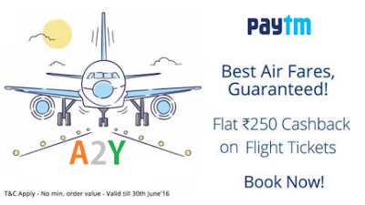 paytm flatrs cashback on flight tickets