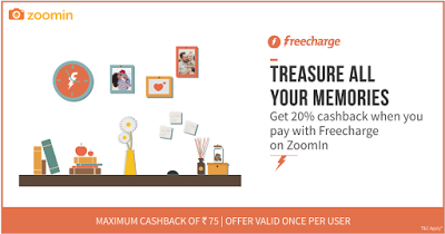zoomin pay via freecharge  cashback