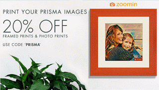 zoomin prisma app prints at  off