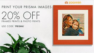 zoomin prisma app prints at  off