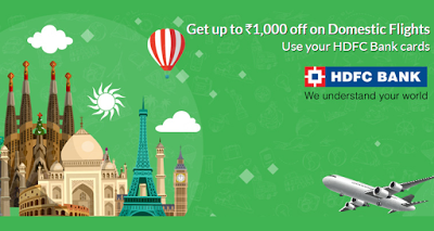 hdfc bank get rs off on flights