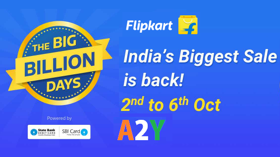 flipkart big billion days nd to th october