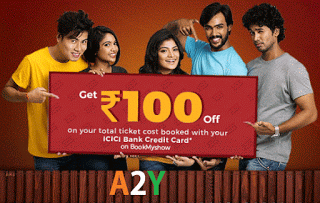 bookmyshow icici bank credit card rs off