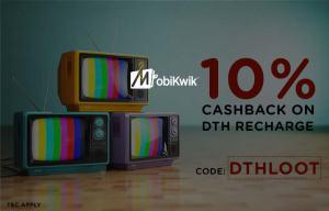 mobikwik  cashback at dth recharges
