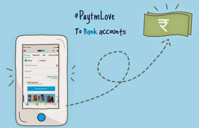 paytm wallet to bank account