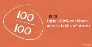 Flat  Cashback Across Lakhs Of Stores