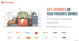 freecharge  cashback add