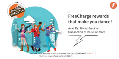 freecharge ilovefc offer