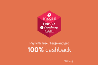 snapdeal freecharge  cashback