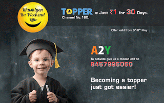 videocon tv kkw offer topper channel for re only