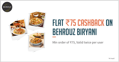 behrouz biryani offer freecharge