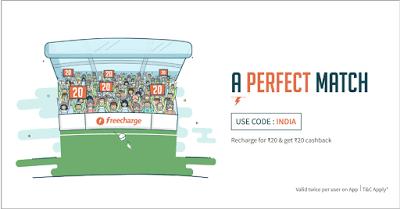 freecharge perfect match INDIA