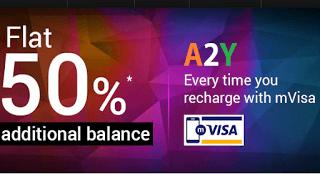 tatasky  cashback via visa mpay