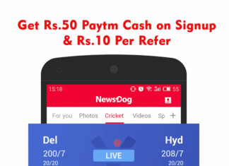 ND App: Get Rs.50 Paytm Cash on Signup & Rs.10/Refer