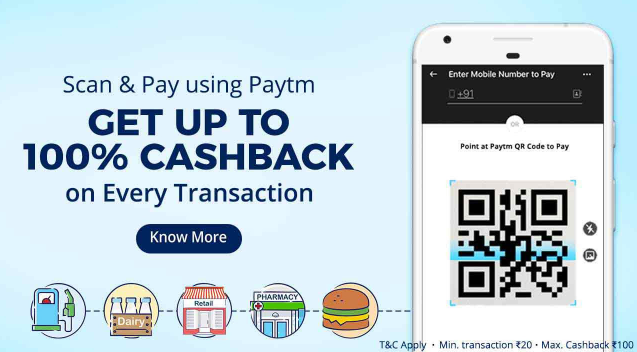 Paytm New Cashback Offer