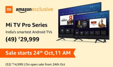 Mi TV Pro Series Sale