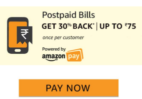 Amazon 30% Cashback on Postpaid Bill Payments