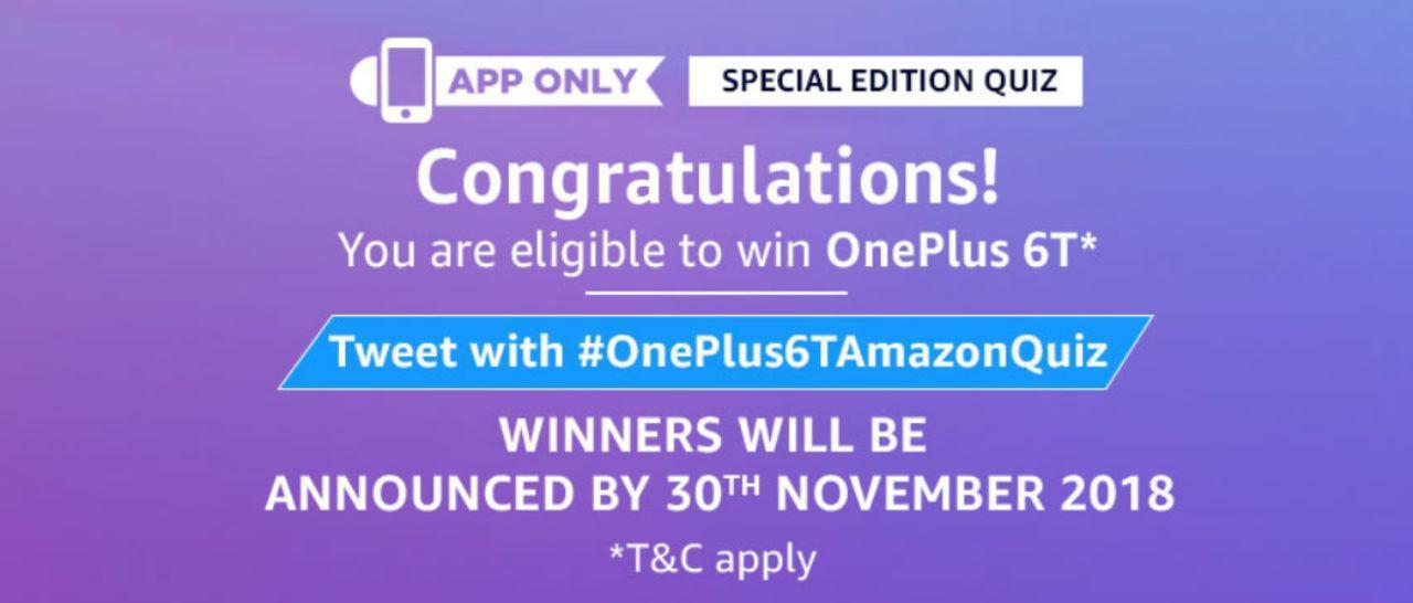 Amazon's OnePlus 6T Quiz Answers