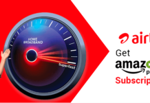 Airtel Broadband Amazon Prime Offer