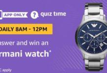 Amazon Armani Watch Quiz Answers