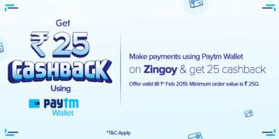 Zingoy Paytm Cashback Offer
